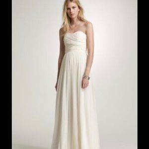 J crew Arabelle Silk chiffon formal/wedding dress